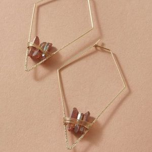 3/$35 RESTOCKED Rose Gold Crystal Earrings